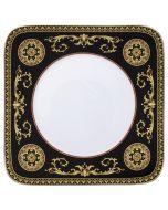 Тарелка для горячего 27см черная квадратная
