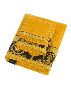 Полотенце для лица 60x100см золотое с черным