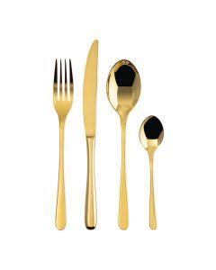 Набор столовых приборов (24 предмета) золотого цвета Taste PVD