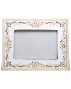 Рамка для фотографий Medusa Gala бело-золотая, 23х18 см