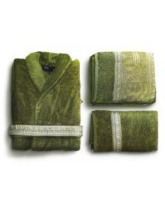 Халат махровый  с набором полотенец