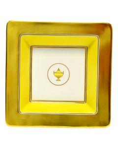 Мелочница CONTESSA CITRINO белая с золотом, 18х18 см