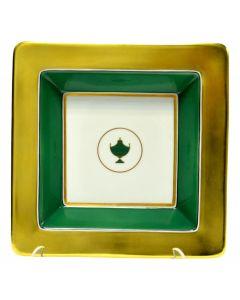 Мелочница CONTESSA SMERALDO зеленая, 18х18 см