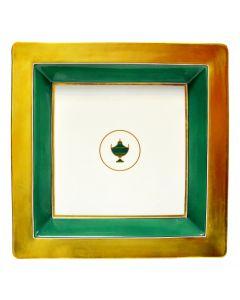 Мелочница CONTESSA SMERALDO зеленая, 24х24 см