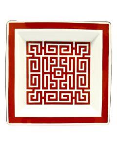 Мелочница LABIRINTO SСARLATTO красная, 24х24 см