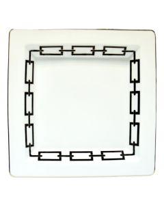 Мелочница CATENA NERO белая, 24x24 см