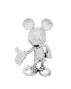 Cкульптура Welcome Mickey серебряная, 30 cм
