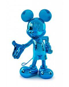 Cкульптура Welcome Mickey голубая, 30 cм