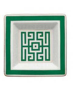Мелочница Labirinto Smeraldo белая, 18x18 см