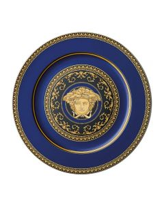 Тарелка юбилейная Medusa Blue, 18 см