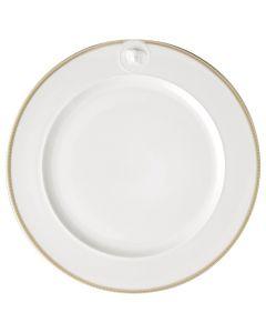 Тарелка подстановочная 30см белая с медузой