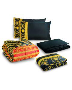 Комплект из постельного белья queen size и покрывала