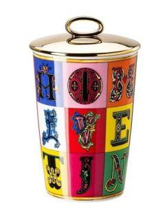 Парфюмированная свеча Versace Alphabet Scented Candles