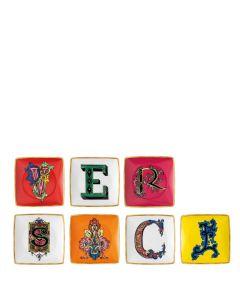 Набор квадратных тарелок Versace Alphabet